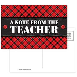 Plaid A Note From The Teacher Postcards, TCR5666