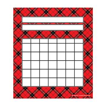 Red Plaid Incentive Charts Pack, TCR5696