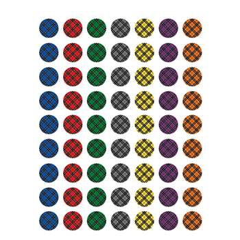 Plaid Mini Stickers, TCR5698