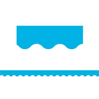 Aqua Scalloped Border Trim, TCR5703