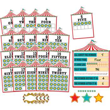Carnival Numbers 0-20 Bulletin Board Set 6 Pnls, TCR5710