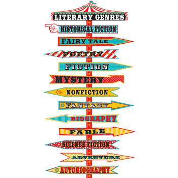 Carnival Literary Genres Mini Bulletin Board Set, TCR5714