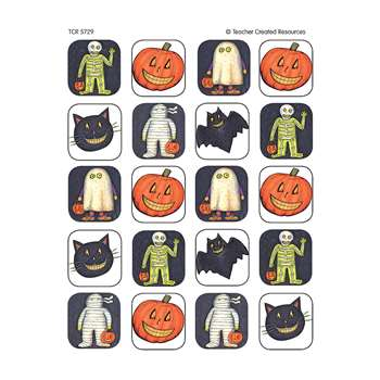 Sw Halloween Stickers 120 Stks By Teacher Created Resources