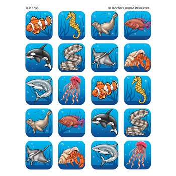 Ocean Life Stickers 120 Stks By Teacher Created Resources