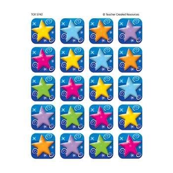 Colorful Stars Stickers 120 Stks By Teacher Created Resources