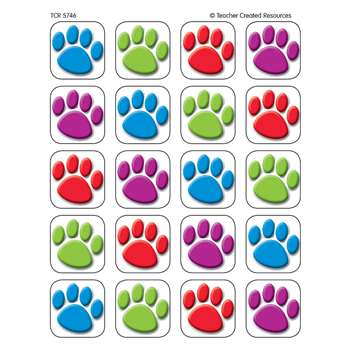 Colorful Paw Prints Stickers 120 Ct By Teacher Created Resources