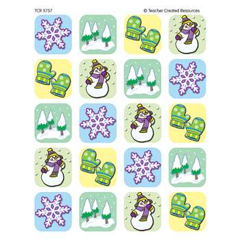 Winter Season Stickers 120 Stks By Teacher Created Resources