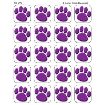Stickers Purple Paw Prints By Teacher Created Resources
