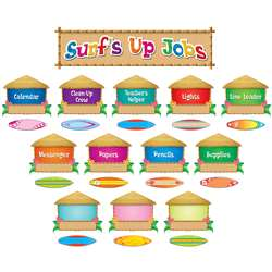 Surfs Up Jobs Mini Bulletin Board Set, TCR5786
