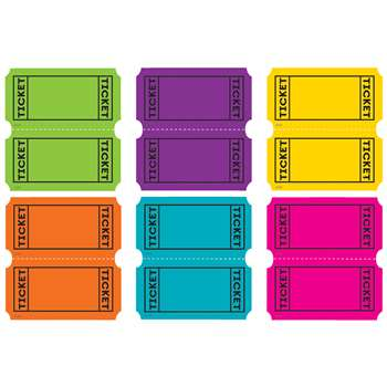 Bright Colors Tickets Mini Accents, TCR5794
