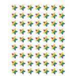 Rainbow Stars Mini Stickers Die Cut Star Shape, TCR5798
