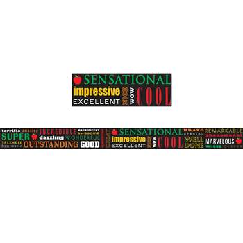 Positive Words Subway Art Straight Border Trim, TCR5803
