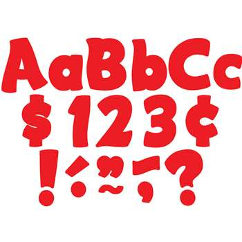 "Red Funtastic 4 "" Letters Combo Pack, TCR5821"