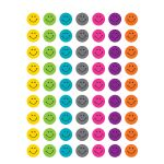 Bright Happy Faces Mini Stickers, TCR5839