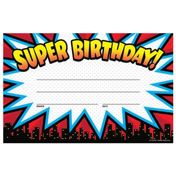 Superhero Super Birthday Awards, TCR5844