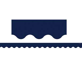 Navy Scalloped Border Trim, TCR5861