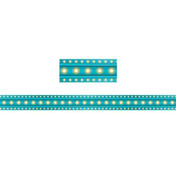 Light Blue Marquee Straight Border Trim, TCR5889