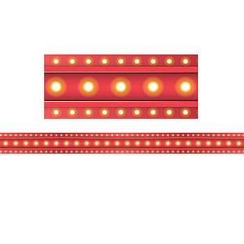Red Marquee Straight Border Trim, TCR5891