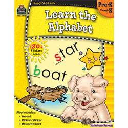 Ready Set Learn Learn The Alphabet Gr Pk-K By Teacher Created Resources