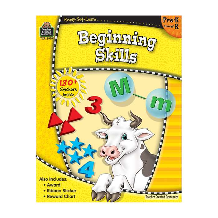 Ready-Set-Learn Beginning Skills Gr Pk-K By Teacher Created Resources