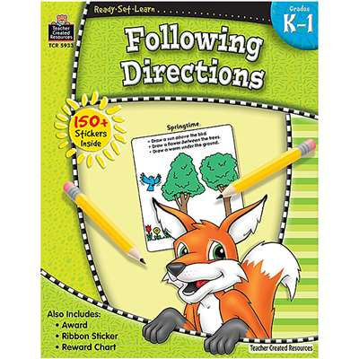 Ready Set Lrn Following Directions Grade K-1 By Teacher Created Resources