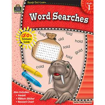 Ready Set Learn Word Searches Grade 1 By Teacher Created Resources