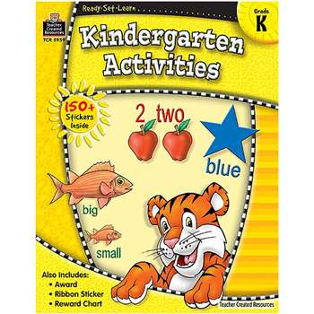 Ready Set Learn Kindergarten Activities Grade K By Teacher Created Resources