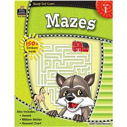 Ready Set Learn Mazes Grade 1 By Teacher Created Resources