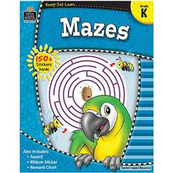 Ready Set Learn Mazes Kindergarten By Teacher Created Resources