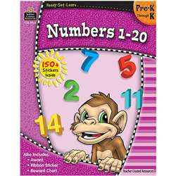 Ready Set Learn Numbers 1-20 Grade Pk-K By Teacher Created Resources