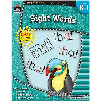Ready Set Learn Sight Words Grade K-1 By Teacher Created Resources