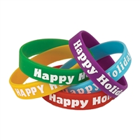 Happy Holidays Wristbands, TCR6016