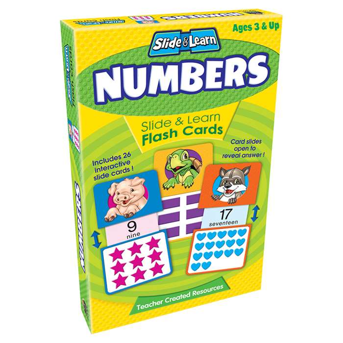 Numbers Slide & Learn Flash Cards By Teacher Created Resources