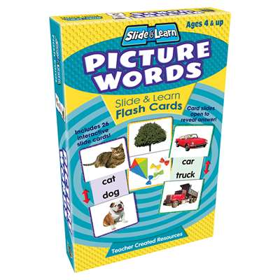 Picture Words Slide & Learn Flash Cards By Teacher Created Resources