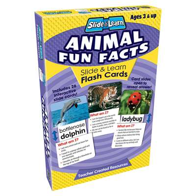 Animal Fun Facts Slide & Learn Flash Cards By Teacher Created Resources