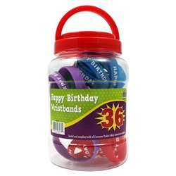 Happy Birthday Wristbands Jar, TCR6577