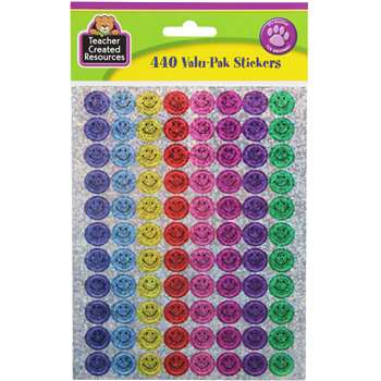 Mini Happy Faces Sparkle Stickers Valu-Pak By Teacher Created Resources