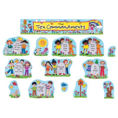 Childrens Ten Commandments Bulletin Board Set By Teacher Created Resources