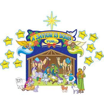 Nativity Scene Bulletin Board Set By Teacher Created Resources