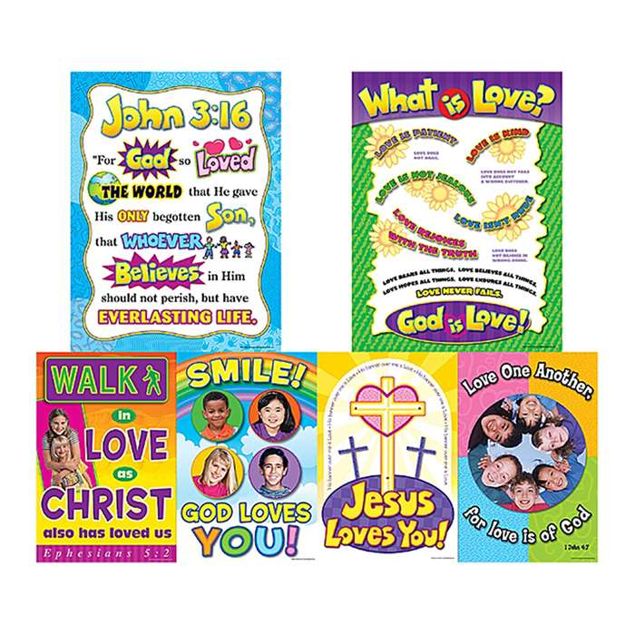 God Is Love Bulletin Board By Teacher Created Resources
