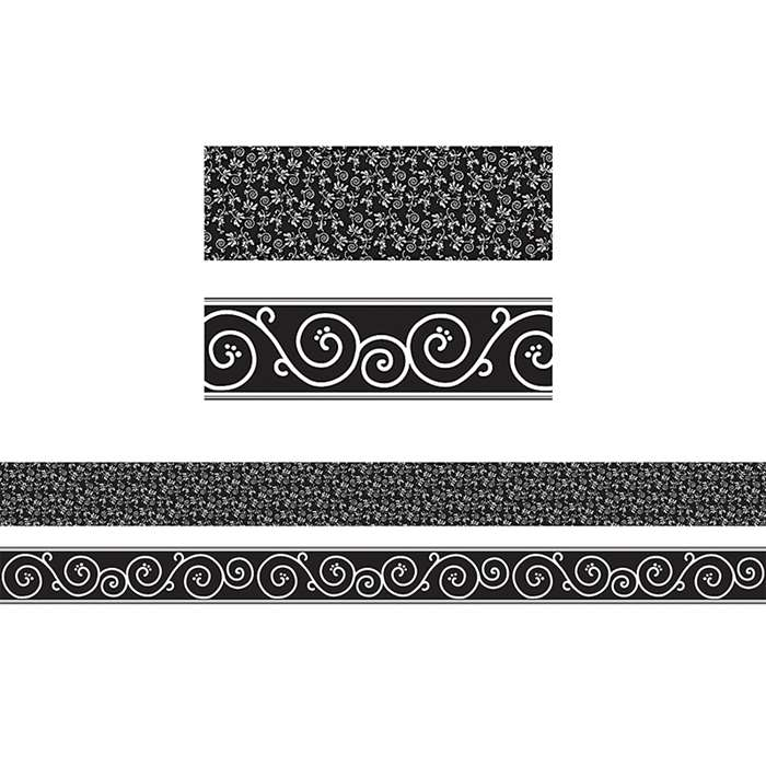 Black Decor Double Sided Border, TCR73138
