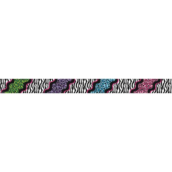 Colorful Leopard Double Sided Border, TCR73141