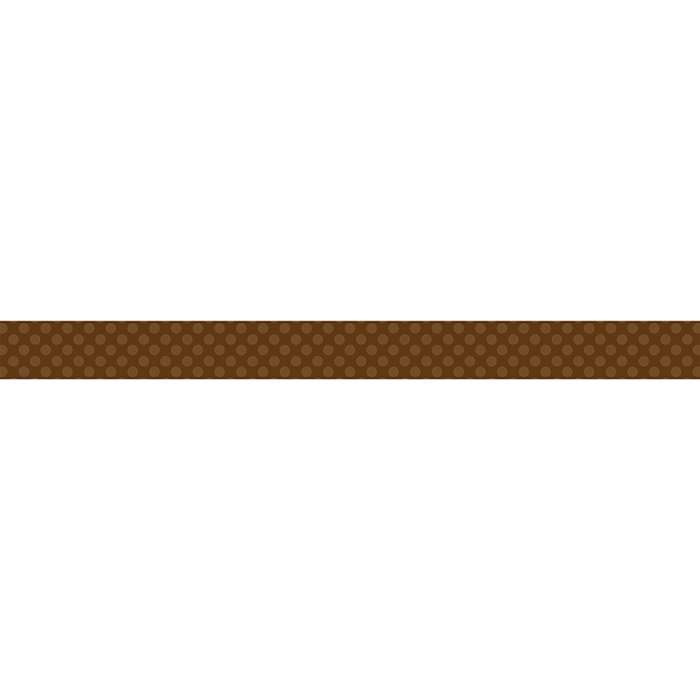 Brown Sassy Solids Double Sided Border, TCR73149
