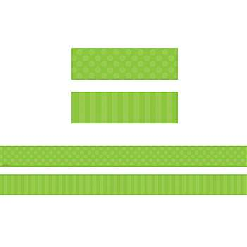 Green Sassy Solids Double Sided Border, TCR73150