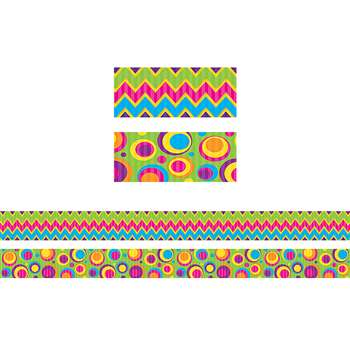 Sassy Bubbles & Chevron Double Sided Borders, TCR73176