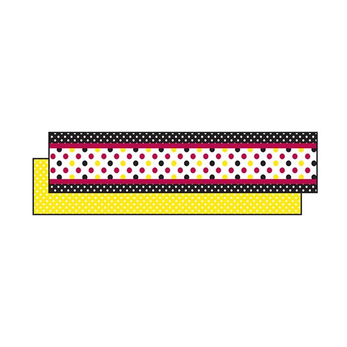 Black Yellow Dot Ribbon Runners, TCR73251