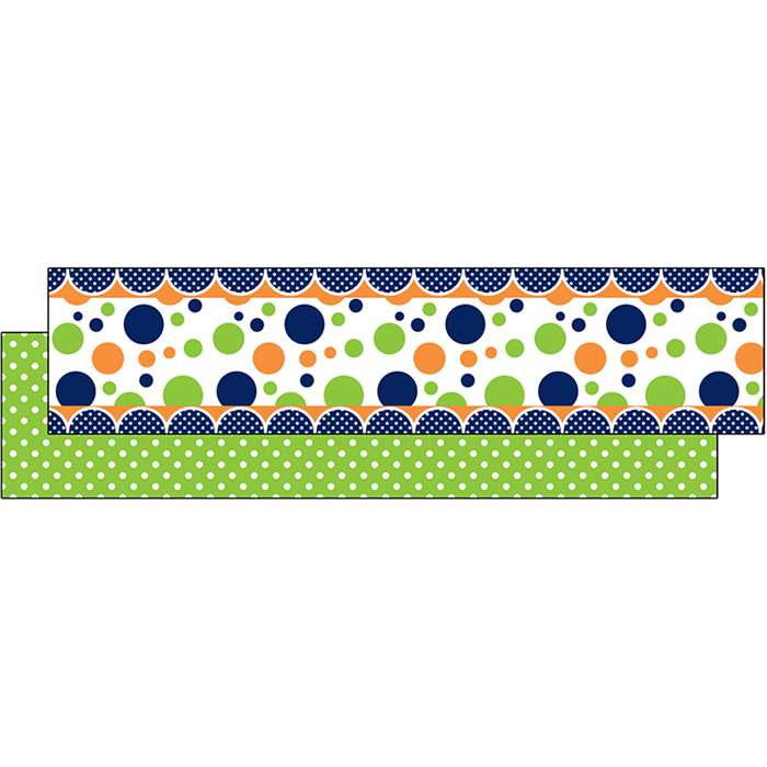 Lime Navy Dot Ribbon Runners, TCR73252