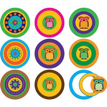 Pop Outs With Pizzazz Mod Circles With Owls, TCR74753