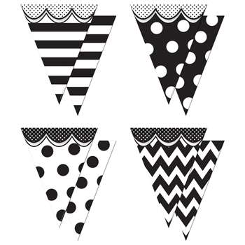 Shop Pennants With Pizzazz Big Bold Black & White - Tcr74775 By Teacher Created Resources