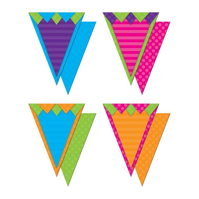 Shop Pennants With Pizzazz Sassy Solids - Tcr74776 By Teacher Created Resources